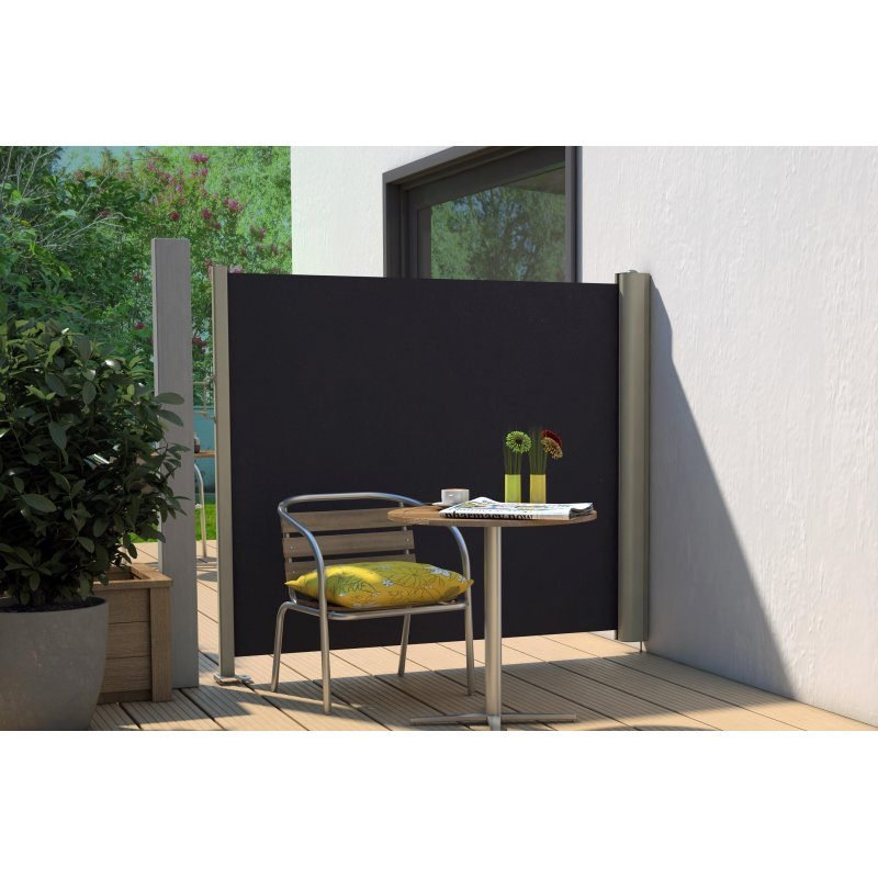 seitenmarkise sichtschutz f r die terrasse fliegenbremse. Black Bedroom Furniture Sets. Home Design Ideas