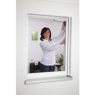 Polyester Fliegengitter für Fenster 130 x 150 cm anthrazit