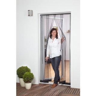 Lamellenvorhang Polyester - Fliegengitter für Tür - 100 x 220 cm antrazith 4 Lamellen