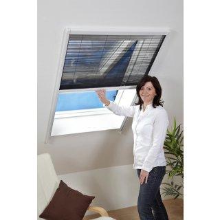 Dachfenster-Plissee - Fliegengitter für Dachfenster 80 x 160 cm weiß