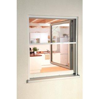 Insektenschutzrollo Smart - Fliegengitter Rollo für Fenster 100 cm x 160 cm weiß