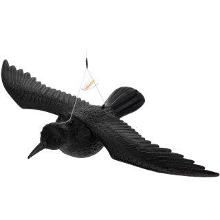 Rabe Krähe - FLIEGEND - Vogelscheuche zum Hängen