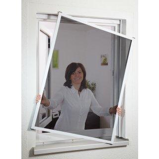 Master Slim POLLENSCHUTZ - Fliegengitter Alu Fensterbausatz 100 x 120 cm weiß