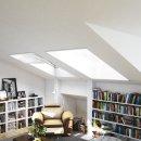 Dachfenster Insektenschutz BASIC - Blickschutz und Fliegengitter 2 in 1 - 110 x 160 cm