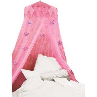 Moskitonetz PRINZESSIN - Fliegengitter für Einzelbetten und Doppelbetten - Baldachin Ø 60 cm rosa/pink